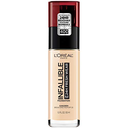 L'Oreal Paris Makeup Infallible Up to 24 Hour Fresh Wear Foundation, Pearl, 1 fl; Ounce