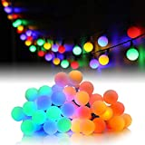 HOTLIKE Guirnalda Luces, Cadena de Luces 5M 50 LED, 2 Modos, Fairy String Light Pilas Luces Decoración para Navidad...