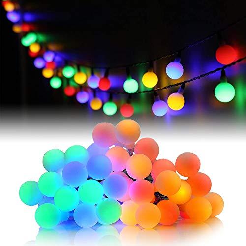 HOTLIKE Luci Catene Luminosa, Luci LED Batteria, 5m 50 LED 2 Modi Fairy Light Ghirlanda Luminosa Decorative Interni e Esterni Waterproof Stringa per Giardino Feste Natale Matrimonio (Multicolore)