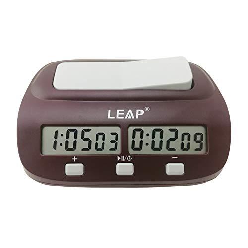 Reloj de ajedrez digital profesional Temporizador de ajedrez de cuenta regresiva con alarma Juego de mesa electrónico Competencia de bonificación Torneo maestro
