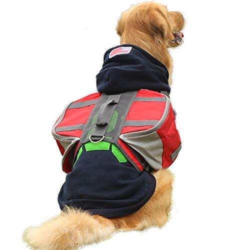 Dog Satteltasche Hund Satteltaschen Wanderausrüstung Rucksack Abnehmbarer Rucksack Reise Tragetasche Hound Harness Tasche for mittlere und große Hundetraining, Reisen M/L (Farbe : Rot, Größe : M)
