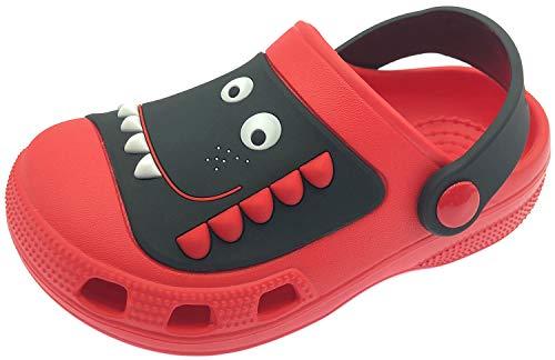 ChayChax Zuecos Unisex Niños Lindo Sandalias de Playa y Piscina Infantil Niña Niño Antideslizante Zapatillas Verano Zapatos de Jardín Agua, Rojo, 23/24 EU
