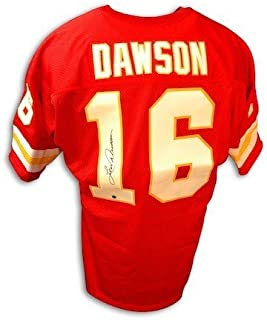 Autographed Len Dawson Kansas City Chiefs Throwback Red Jersey - COA Included Signature