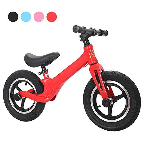 YRYBZ Bicicletas sin Pedales 2-6 Años Bici Bebes Juguetes Regalos Bebé Bici sin Pedales Niño, Bicicleta Infantil de Equilibrio/Rojo