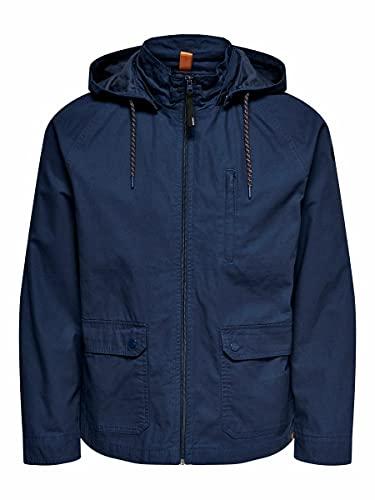 Only & Sons Onsjames Life Cotton Jacket Otw Parka, Azul Oscuro, M para Hombre