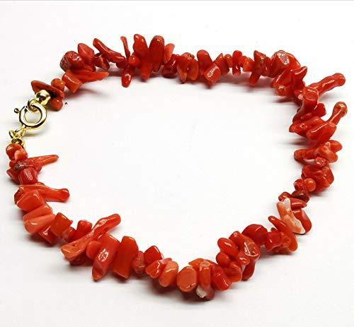 Bracciale frange di corallo rosso sardegna in argento 925 da donna nuovo