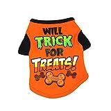 Zonfer Imprimir Traje De Perro Mascota De Dibujos Animados De Halloween Camiseta De Pequeño Perrito...
