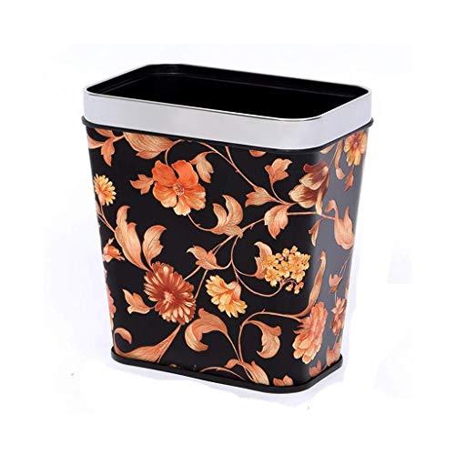 Yxsd Badkamer Bin Zonder Cover Prullenbak, Keuken Woonkamer Recycling Bin, Huishoudelijke Rechthoekige Plastic Vuilnisbak, 8L