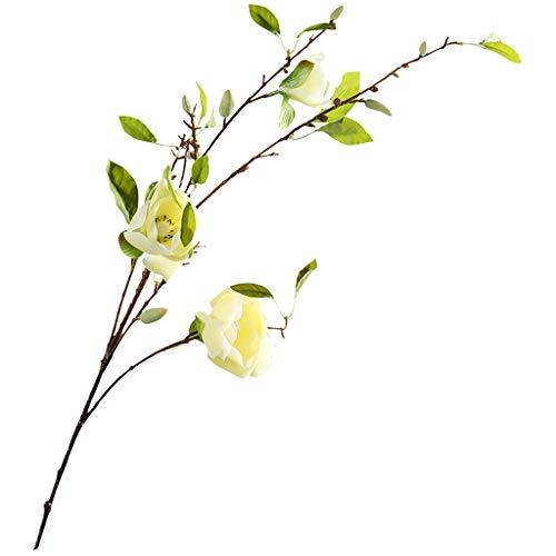 Nep bloem TXC Kleine Magnolia Tak Simulatie Boeket Ornament Decoratie Woonkamer Eettafel Display Bloem Heldere kleuren
