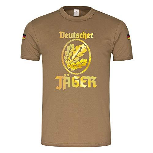 Copytec BW Tropen Deutscher Jäger Abzeichen Eichenlaub Jägertruppe Heer Infanterie #18063, Größe:L, Farbe:Khaki