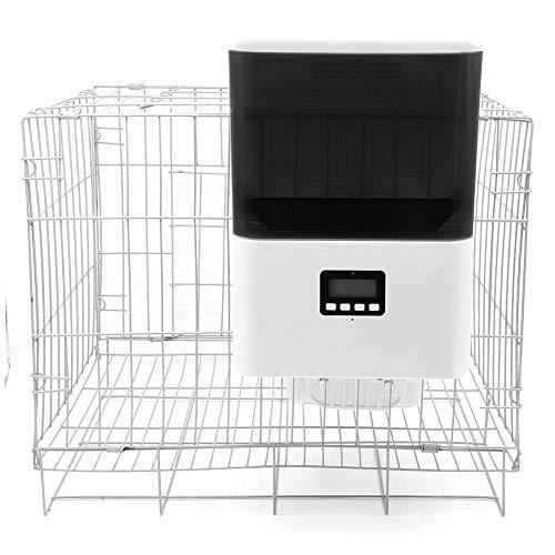 NPET自動給餌器AF010ケージ取付タイプ自動餌やり機小型犬猫用2.3L容量1年間保証