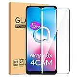 HYMY 5 Pack Cristal Vidrio Templado para Alcatel 3X 4CAM 2020 (6.52') - Transparente Protector de...