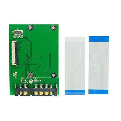 Cuasting Unidad de disco duro SSD ZIF/CE de 40 pines a 7 + 15 22 pines SATA convertidor de placa