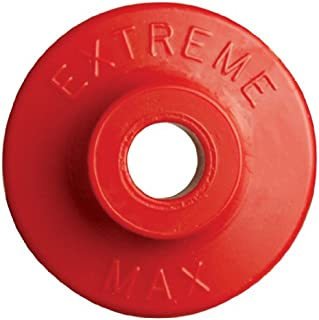 Extreme Max 5900.1179 Red Round Plastic Backer - 48 Piece