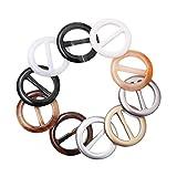 Supvox 20pcs T-Shirt Clip Ringe Harz Schnalle Ringe r&en Schal Ringe Kunststoff Klammern für Schals Ringe Schals Schnallen