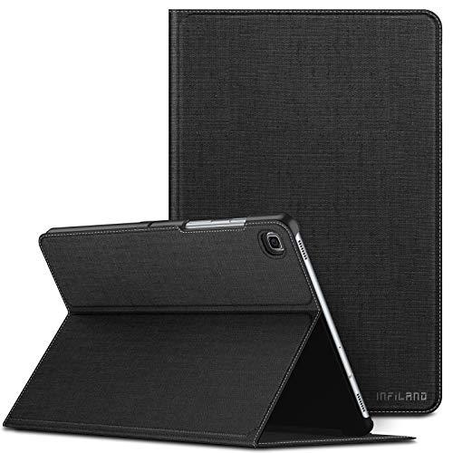 INFILAND Custodia per Samsung Galaxy Tab S5e, Visione Multi Angoli Supporto Anteriore Custodia per Samsung Galaxy Tab S5e 10.5   (T720 T725 T727) 2019, Automatica Svegliati Sonno,Nero