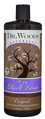 DR. WOODS - Raw Liquid Black Soap Original - 32 fl. oz. (946 ml)