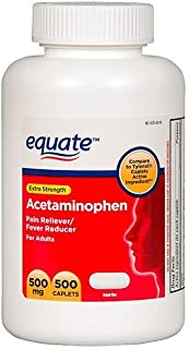 Equate - Acetaminophen 500 mg, 500 Caplets
