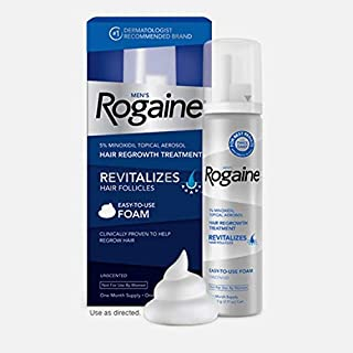 Men's Rogaine Hair Regrowth 5% Minoxidil Foam Hair Revitalizer for Hair Loss and Thinning Hair Topical Treatment