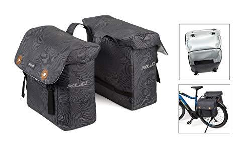 XLC Unisex - volwassenen BA-S88 dubbele tas luxe antraciet, 150x340x321