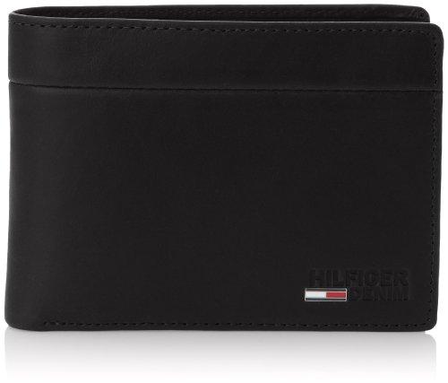 Tommy Jeans Hilfiger Denim CHAD CC & COIN POCKET, Portemonnaie, Schwarz - Schwarz - Schwarz (990 Black) - Größe: one size