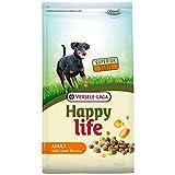 Global Pienso para Perros Happy Life Adult con Ternera | Pienso para Perros Versele Laga | Comida para Perros 15 kgs