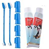 CooZero Dog Dental Care Kit, 2 Pack Dog Toothpaste and Dog Toothbrush...