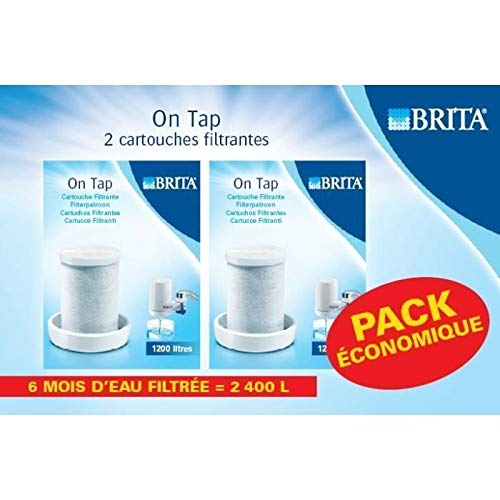 BRITA On Tap Recambio de Filtro, Carbón Activo, Blanco, 2