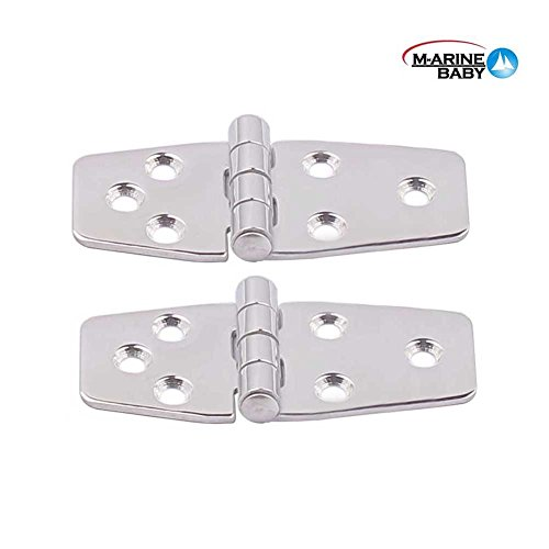 2PCS Marine Grade Stainless Steel Mirror Polished Door Hinge for Boat