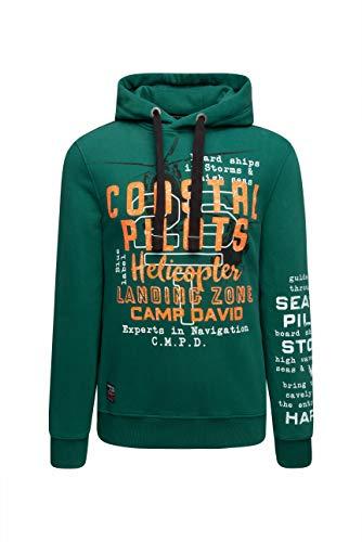 Camp David Herren Hoodie mit Used Prints und Tapes