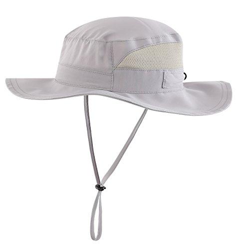 Connectyle Toddler Boys UV Sun Hat Kids UPF 50+ Bucket Fishing Hats Breathable Beach Sun Cap Grey S