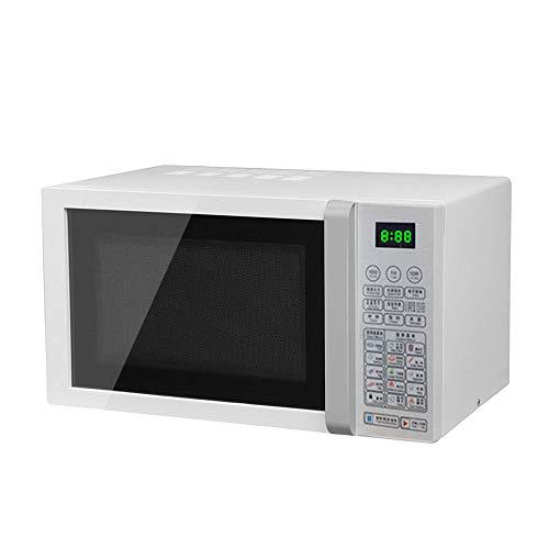 DAETNG Mikrowellenherd 23L Lagerkapazität Digitalanzeige 800W, 14 voreingestellte Rezepte, Arbeitsspeicher, automatisches Auftauen, Solo-Mikrowellenherd für Standardgröße des Speisetellers