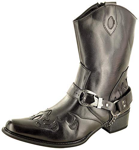 Bottes de cowboy Western pour homme avec fermeture...