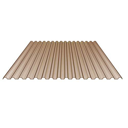Lichtplatte | Spundwandplatte | Profil 70/18 | Material PVC | Breite 1095 mm | Stärke 1,2 mm | Farbe Bronze