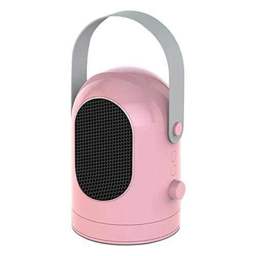 GHWWW Mini-elektrische kachel, draagbare kamerverwarmingsventilator van keramiek, met warmte- en natuurlijke ventilatorinstellingen, persoonlijke energiezuinige verwarming voor op kantoor en thuis