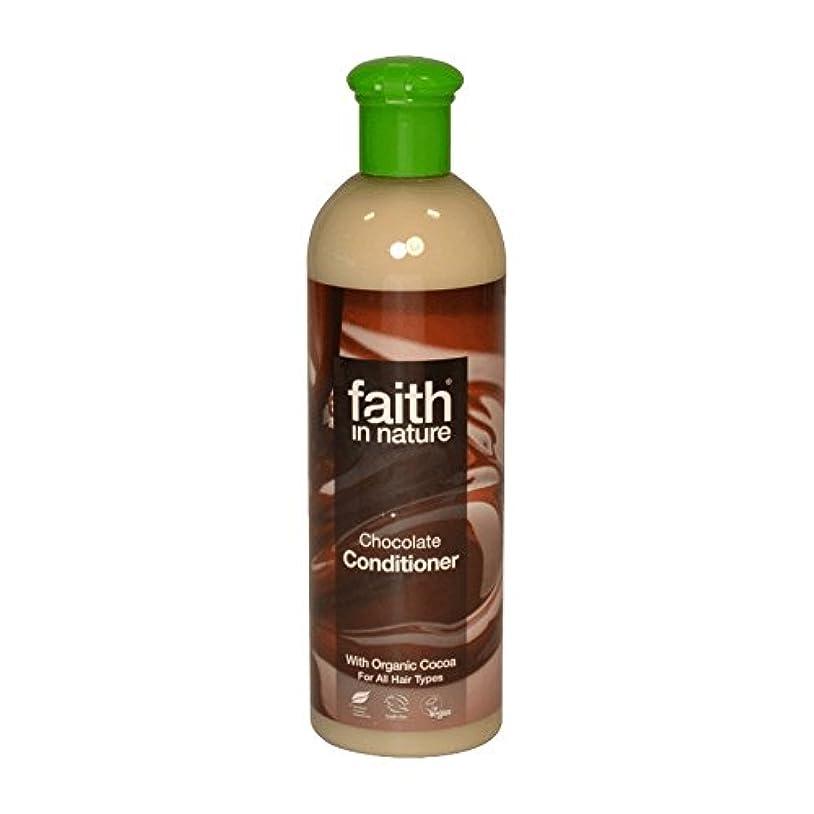 メロドラマティック閉じ込める成長するFaith In Nature Chocolate Conditioner 400ml (Pack of 6) - 自然チョコレートコンディショナー400ミリリットルの信仰 (x6) [並行輸入品]
