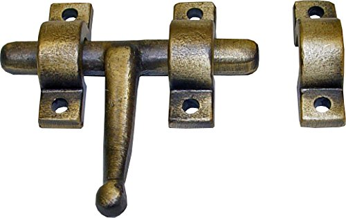 Imex El Zorro 76818 76818-Cerrojo latón rústico (60 mm)