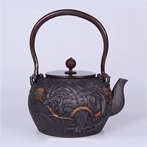 Tea Pot, Japanese Tea Kettle, Vintage Cast Iron Small Tea Maker for Loose Leaf Tea, for Party Office Home Restaurants, 1.2 Litre