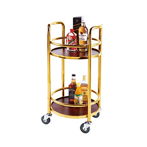 NBVCX Furniture Decoration Four Wheels Portable Tool Storage Cart Goods Rack Mobile Trolley Tool Cart Double Wine Cart Tea Water Cart Snack Car Hotel Restaurant Delivery Car Utility Cart b 42x42x81cm