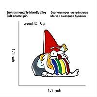 Qihejewelryクリスマスブローチピンサンタクロースヴォミットレインボーハードエナメルメタルピンデニム洋服バッジフェスティバルギフトピン