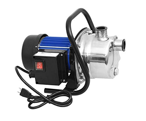 1.6 HP Stainless Steel Lawn Sprinkling Pump Electric Water Pump Transfer Pump Shallow Well Pump Garden Lawn Irrigation Booster Pump