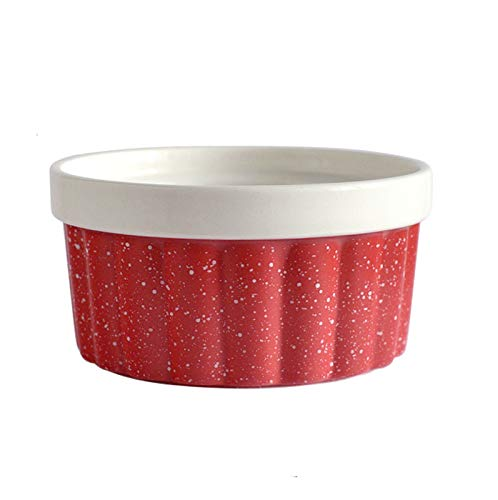 WXXT ramequines,moldes Horno,ramequines thermomix,Cuencos domésticos de cerámica soufflé,pudín de Caramelo,natillas,pudín y Helado(250ml) Elegir