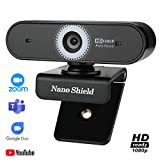 Autofocus Webcam with Microphone, Trobing 1080p Full HD Web Camera USB Wide Screen Webcam Streaming Computer...