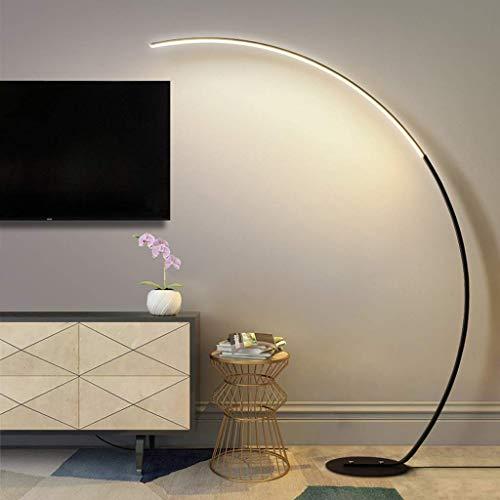 LCJD Lámpara de pie Regulable con Control Remoto, Arco LED Moderno Minimalista para Sala de Estar, Dormitorio, Oficina, Temperatura de 3 Colores Ajustable, luz de pie de Lectura para el Cuidado d