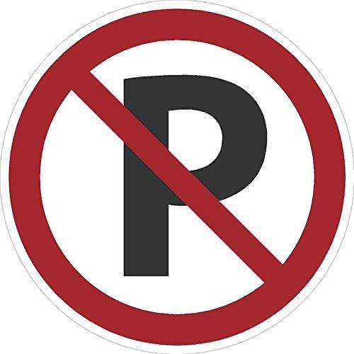 Kleberio® Verbots Schild 30 cm rund - Parken verboten - stabile Aluminiumverbundplatte