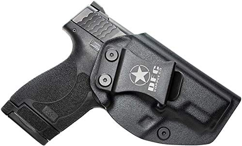 DFC Supply Co. IWB KYDEX Holster Inside Waistband Concealed Carry,Fits S&W M&P Shield & Shield 2.0-9MM/.40 S&W,Handcrafted,Veteran Owned Company (Black)