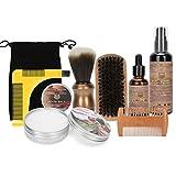 Peine de barba con aceite anti-picazón, cepillo para recortar, tijeras, humectante de barba para hombres, regalo para hombres, cuidado para papá