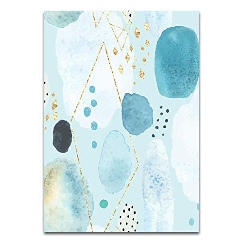U/N Modern Blue Bubbles Gedrucktes Bild Home Wanddekoration Leinwand Malerei Gold Poster Wohnzimmer Schlafzimmer Esszimmer Art Decor-2