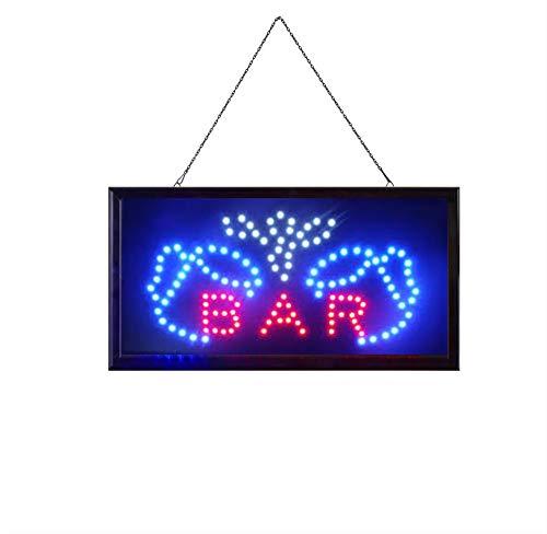 BAR Elektronisches LED-Schild - das originale intelligente leuchtende LED-Schild für professionelle, leistungsstarke, animierte, blinkende Anzeigeschilder B02