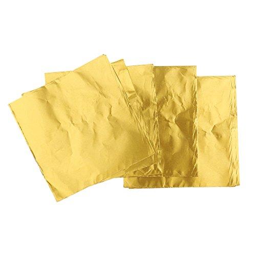 100pcs Süßigkeiten Süßigkeiten Paket Folie Papier Schokolade Am Stiel Wickel Orange - gold